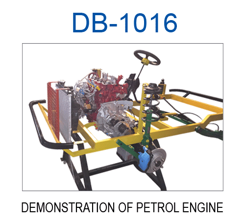 Demonstration of Petrol Engine with Tilting Chassis